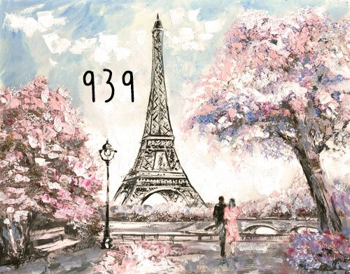 Photography Background in Fabric Eiffel Tower / Backdrop 939