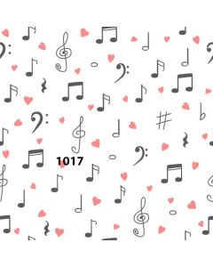 Photography Background in Fabric Musical / Backdrop 1017
