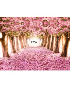 Photography Background in Fabric Forest Flowered / Backdrop 1252
