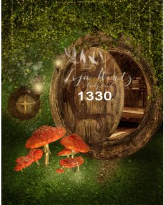 Photography Background in Fabric House of Fairies / Backdrop 1330