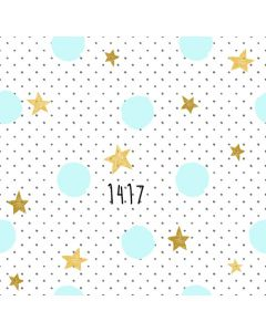 Photography Background in Fabric Golden Stars Pastel Color / Backdrop 1417