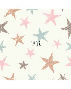 Photography Background in Fabric Stars Pastel Color / Backdrop 1418