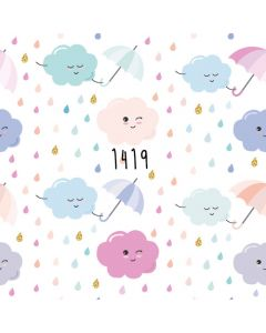 Photography Background in Fabric Cloud with Rain Pastel Color / Backdrop 1419