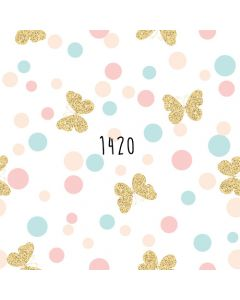 Photography Background in Fabric Golden Butterflies Pastel Color / Backdrop 1420