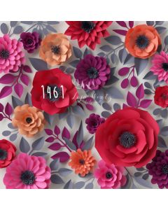 Photography Background in Fabric Paper Flowers / Backdrop 1461