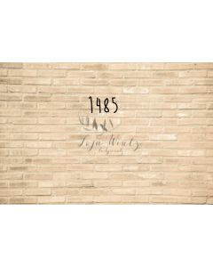 Photography Background in Fabric Bricks Beige / Backdrop 1485