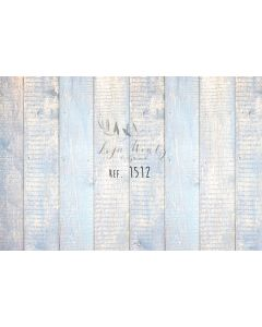 Photography Background in Fabric Wood Blue / Backdrop 1512