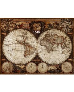 Photography Background in Fabric World Map / Backdrop 1549