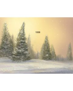 Photography Background in Fabric Christmas Pines / Backdrop 1558