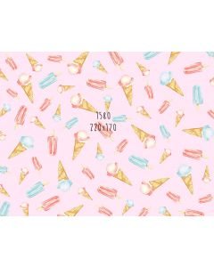 Photography Background in Fabric Ice Cream / Backdrop 1580