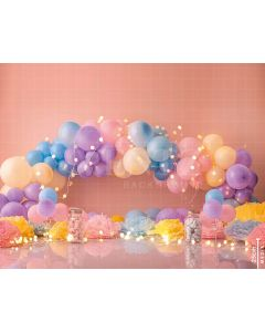 Photography Background in Fabric Scenarios Colorful Balloon / Backdrop 1781