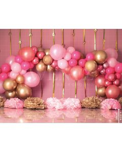 Photography Background in Fabric Scenarios Rose Gold Balloon / Backdrop 1782