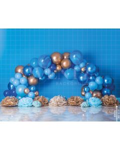 Photography Background in Fabric Scenarios Blue Balloon / Backdrop 1783