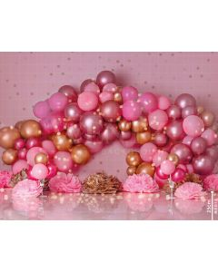 Photography Background in Fabric Scenarios Rose Gold Balloon / Backdrop 1784