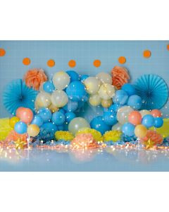 Photography Background in Fabric Scenarios Colorful Balloon / Backdrop 1823