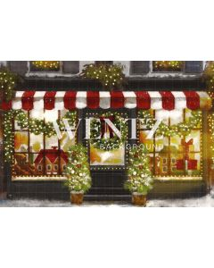 Photographic Background on Fabric Christmas Toy Store / Backdrop 2310