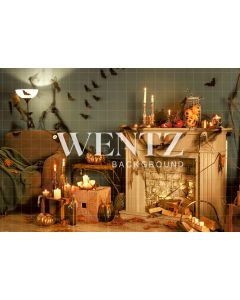 Photography Background in Fabric Halloween Room / Backdrop 2358