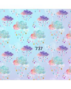 Photography Background in Fabric Rain of Love / Backdrop 737
