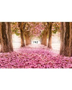 Photography Background in Fabric Forest Flowered / Backdrop 742