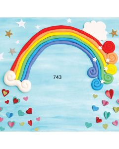 Photography Background in Fabric Rainbow / Backdrop 743