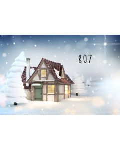 Photography Background in Fabric Christmas Hut / Backdrop 807