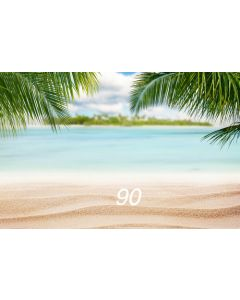 Photography Background in Fabric Beach and Sea / Backdrop 90