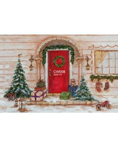 Photography Background in Fabric Christmas Hand Painted / Backdrop CW008