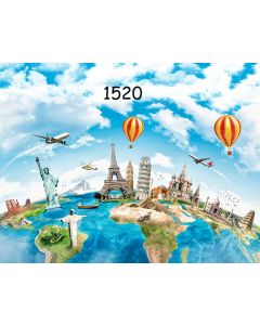 Photography Background in Fabric Around the World / Backdrop 1520