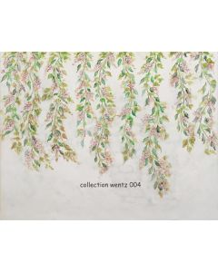 Photography Background in Fabric Flowers Hand Painted / Backdrop CW004