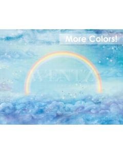 Photography Background in Fabric Rainbow with Clouds / Backdrop 2080