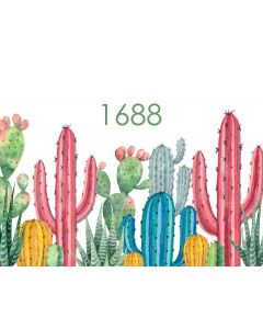 Photography Background in Fabric Colorful Cactus /  Backdrop 1688