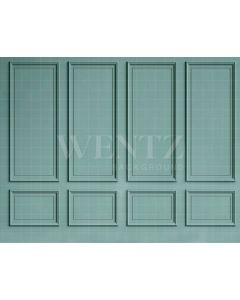 Photography Background in Fabric Boiserie Green / Backdrop 2099