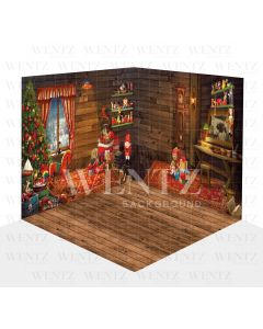 Photography Background in Fabric Christmas Scenario 3D / WTZ105