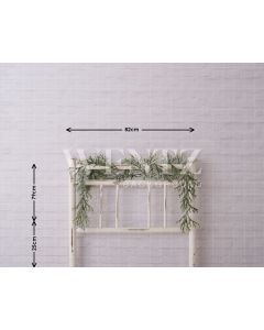 Photography Background in Fabric Bedside Christmas Bed / Backdrop 1608