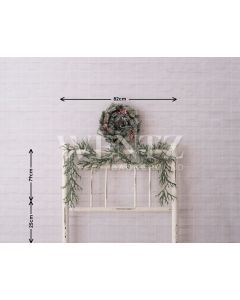 Photography Background in Fabric Bedside Christmas Bed / Backdrop 1609