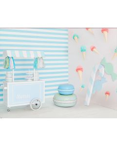 Photography Background in Fabric Ice Cream Tent / Backdrop 1565