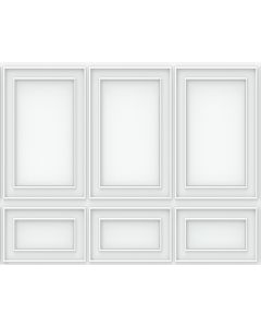 Photography Background in Fabric Boiserie White Wall / Backdrop 1597