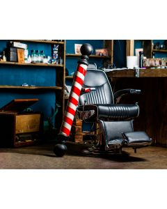 Photography Background in Fabric Barber Shop / Backdrop 1828