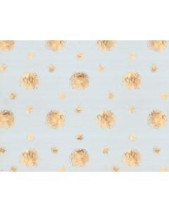 Photography Background in Fabric Golden Balls With Blue/ Backdrop 1629