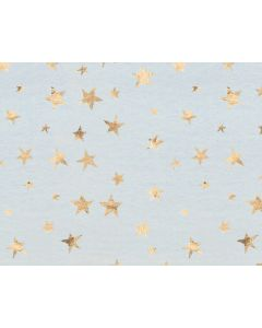 Photography Background in Fabric Golden Stars With Blue / Backdrop 1631