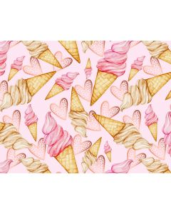 Photography Background in Fabric Ice Cream / Backdrop 1637
