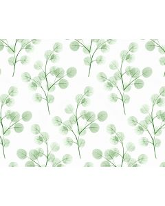 Photography Background in Fabric Green Leaves/ Backdrop 1656