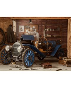 Photography Background in Fabric Car and Daddy Garage / Backdrop 1862
