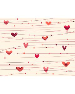 Photography Background in Fabric Red Heart / Backdrop 1682