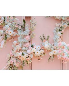 Photography Background in Fabric Flower Arrangement / Backdrop 1738