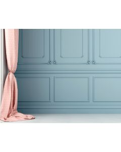 Photography Background in Fabric Boiserie Blue Wall / Backdrop 1750