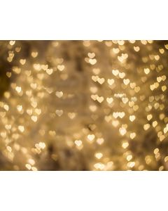 Photography Background in Fabric Golden Heart / Backdrop 1769