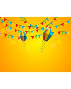 Photography Background in Fabric Redneck Party Flags and Balloons/ Backdrop 1808