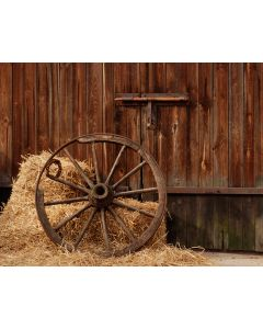Photography Background in Fabric Old Wheel / Backdrop 1818