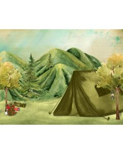Photography Background in Fabric Forest Camping / Backdrop 1830